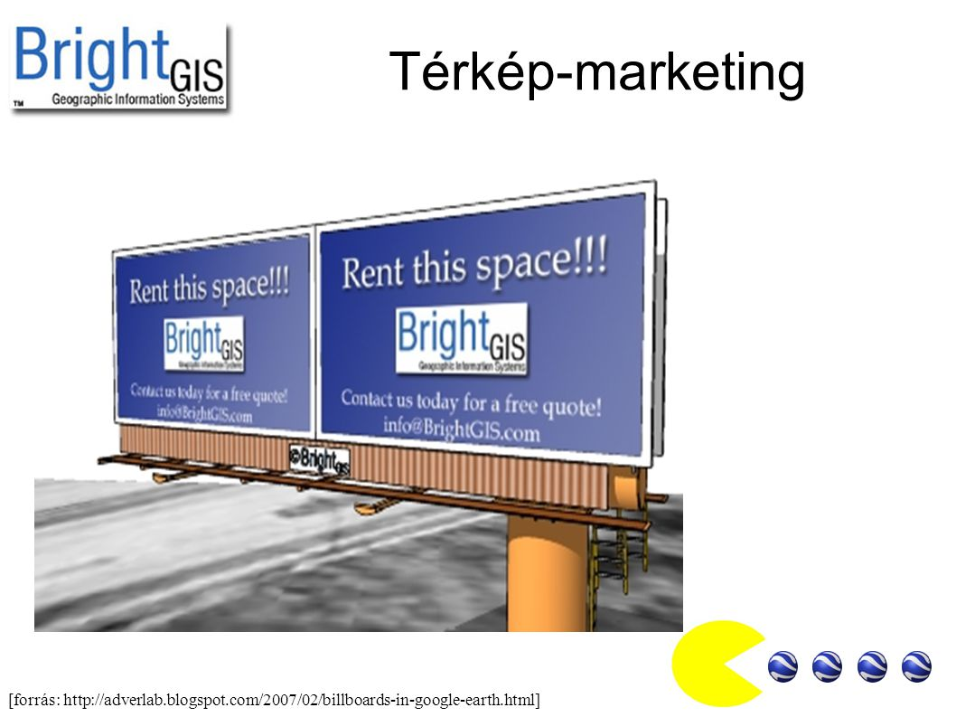 Térkép-marketing [forrás: http://adverlab.blogspot.com/2007/02/billboards-in-google-earth.html]